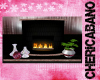 Pink Zebra Fireplace