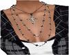 3 Necklaces w Cross