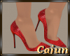 Crimson Shimmer Pumps