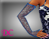 (DC)Blue Shimmer Gloves