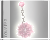 Fluffy Heart Earrings
