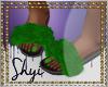 $ Green Fur Slides