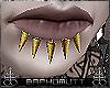 ⛧ Golden Spiked Lip