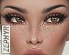 . faux freckles