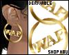 drv Wap Earring Hoops M