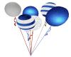 Silver/Blue Balloons