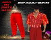 M*ASIAN RED DRESS SLACKS
