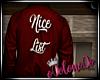 .L. Nice List Red