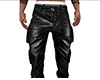 Leather Cargo Pants (M)