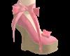 Lola Coral Wedge Heels