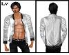 White Jacket No Shirt