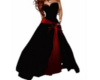 black & red gown