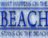 Blue Beach Sign