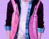 pink n blue top ♂