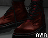 擾 Laced Boots Red. F