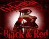 Oriental Black&Red Hair