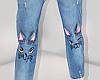 ✔ Cat face Jeans