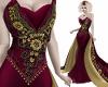 Masquerade Gown Burgundy