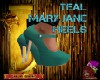 DM:TEAL MARY JANES