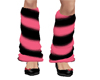 pink n bk leg warmers