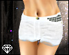 + White Studded Shorts