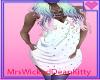 pastel draped dress