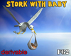 Stork With baby Animated