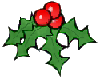 Holly sticker