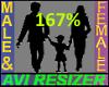 167% Tall