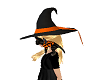 witch hat black & orange