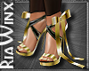 Gilded Bow Heels