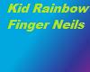 Kid Rainbow Finger Neils