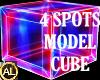4 SPOT NEON MODEL CUBE F