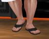 (Naty)Black Sand sandals