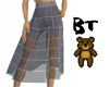 Pleated Derivable Skirt