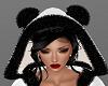 H/Black/White Fur Hood