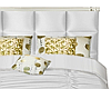 White/Gold Luxury Bed