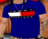 100-Tommy H Blu Tee-100