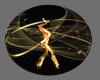Black Gold Dancing Ball