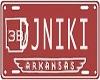 (V)DJNiki Licence Plate