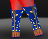 MF STUDDED BOOTS BLUE