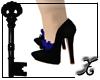 *XS* Cobalt Petal Shoes