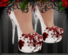 *E* Bloody white heels