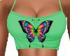 Tie Dye Butterfly Crop
