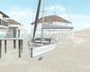 Aesthetic sail boat