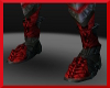 Red/silver boots armor