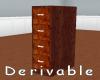 [] Wood Filing Cabinet