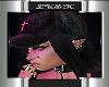 Zeta hat hair black