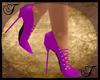 Pink Suede Spike Heels