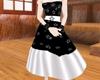 Hepburn style B&W Dress